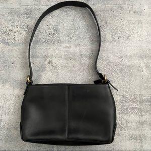 Vintage Leather Etienne Aigner Black Shoulder Bag
